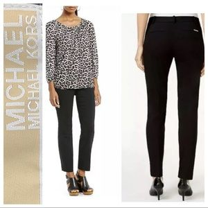 Michael Kors Casual Black Cropped Ankle Pants • 14